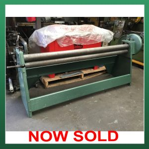 SOLD – EDWARDS Besco Geared Bending Rolls 2030mm (80″) x 100mm (4″) x 2.0mm (EBR2030)