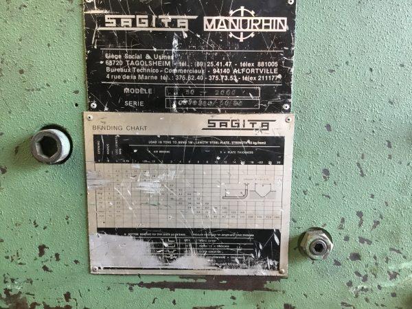 MANURHIN Press Brake (MPB01)