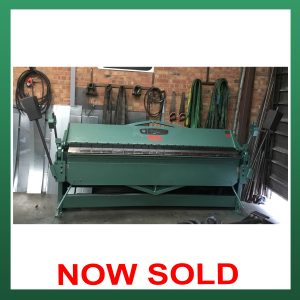 SOLD – F.J. EDWARDS Manual Box & Pan Folder 100″ (2540mm) x 2.0mm Capacity (EBPF2540)