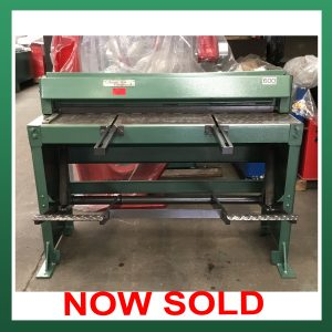 SOLD – EDWARDS Treadle Guillotine 1270mm x 1.6mm Capacity (ETG1270)