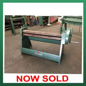 SOLD – EDWARDS Manual Geared Bending Rolls 1270mm x 100mm x 2.5mm